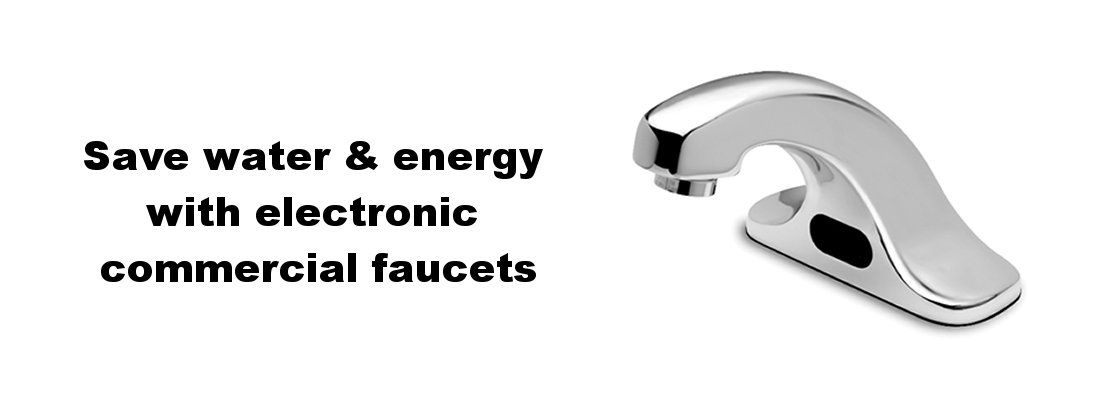 Electronic commercial faucet save water and energy